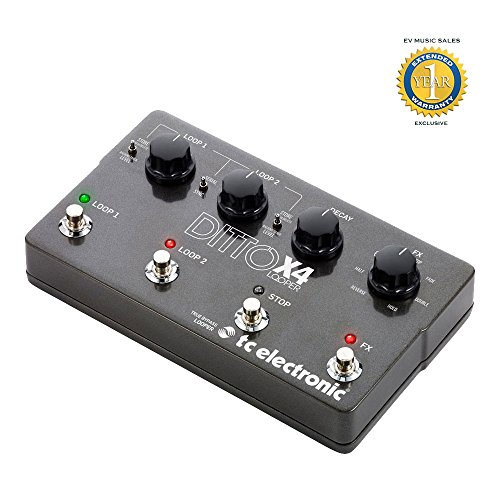 TC Electronic Ditto Looper X4 Looper Pedal with 1 Year Free Extended Warranty by TC Electronic
