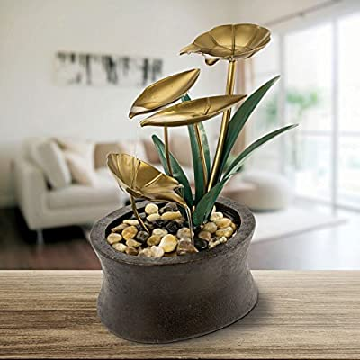 KOVOT Tiered Eternity Tabletop Water Fountain (Tiered Lily Fountain)