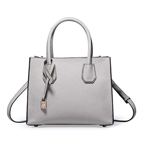 sac simple à main bandoulière sac Mme en gray cuir unie à diagonale couleur sac a7WwdHq