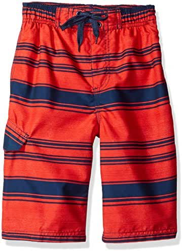 Kanu Surf Baby Boys' Haze Stripe Swim Trunk