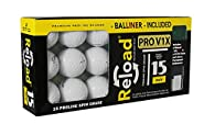 Titleist Reload Recycled Golf Balls Pro v1X Refurbished Golf Balls with Ball Liner (15 Pack)