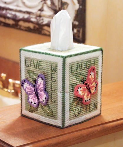 Butterfly Dominoes (LARARHEE-Mary Maxim Butterfly Tissue Box Cover)
