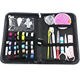 KaLaiXing® Sewing Kit for Home, Travel & Emergencies - Filled with Quality Notions Scissor & Thread - Great Gift--black