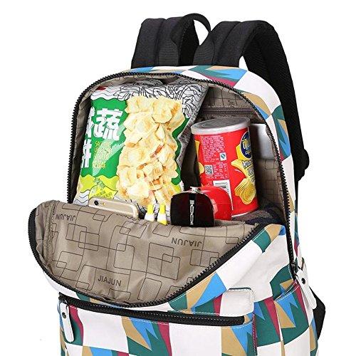 couleur Vague le sac high Sac d'ordinateur à student coréenne en B school sac dos bandoulière à femme toile de A frapper sac qXxZT6wZ