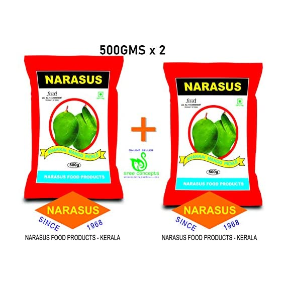NARASUS AVAKKAI Mango Pickle (500GMS X 2)