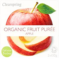 Clearspring Orgánica puré de manzana 2 x 100