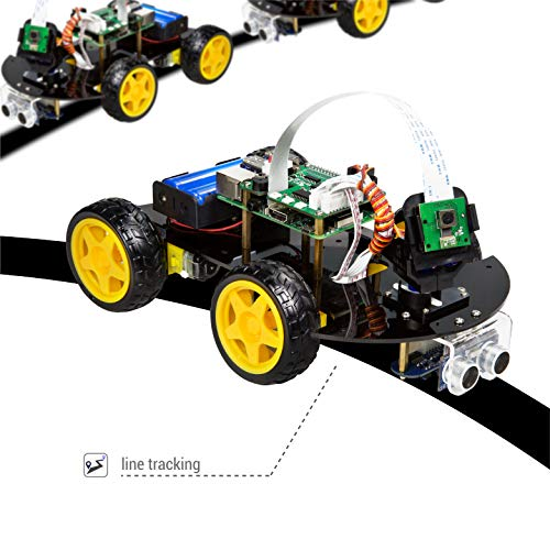 UCTRONICS Robot Car Kit for Raspberry Pi - Real Time Image and Video, Line Tracking, Obstacle Avoidance with Camera Module, Line Follower, Ultrasonic Sensor and App Control by UCTRONICS (Image #5)