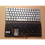 New Laptop Backlit Keyboard (without Frame) for HP Spectre X360 13-4000 13-4001DX 13-4002DX 13-4103DX 13-4102DX 13-4003DX 13T-4200 , US layout Silver color
