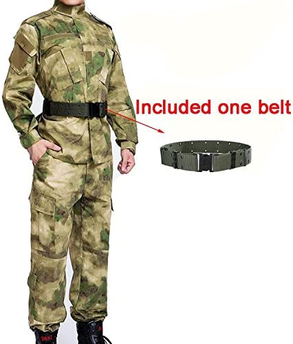 Hombres Táctico EDR Combat uniforme chaqueta camisa & pantalones traje AT FG para ejército militar Airsoft Paintball caza torno Guerra juego, color AT FG, tamaño XXXL: Amazon.es: Deportes y aire libre