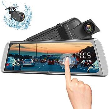 Campark 1080p Dual Lens Rear View Mirror Dash Cam