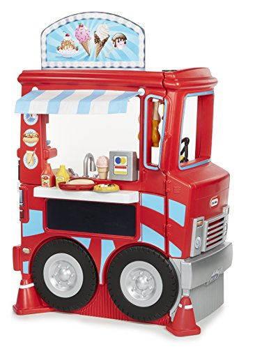 Little Tikes 2-in-1 Food Truck Deluxe Role Play (Little Tikes Car Carrier)