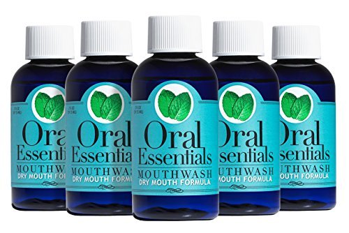Oral Essentials Dry Mouth Travel Size Mouthwash Pack of Six 2 Oz. Less Dry Mouth in Two Weeks
