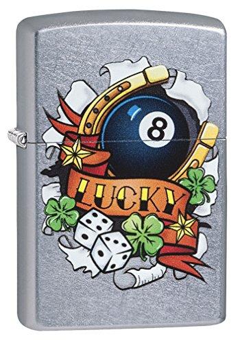 Zippo Luck Tattoo Street Chrome Lighter