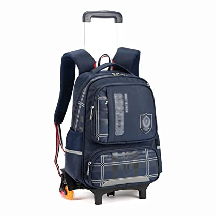 2bb1f31bb233 Amazon.com : HONGLIAN Children's Trolley Bag Backpack 3 Rounds ...