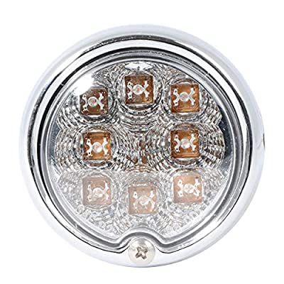 Grand General 77211 Light (Clear Steel Spyder Amber/Clear LED Turn and Parking), 1 Pack: Automotive