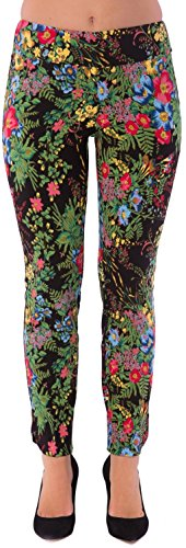 UP Womens Slim Ankle Pants Flatten and Flatter Style 35453 Amazon Print Size 8 Color Black by UP! Pants (Image #1)