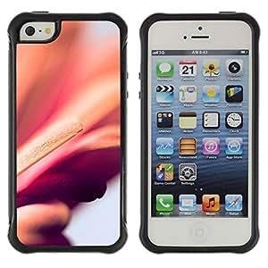 Suave TPU GEL Carcasa Funda Silicona Blando Estuche Caso de protección (para) Apple Iphone 5 / 5S / CECELL Phone case / / floral peach purple blurry petal orange /