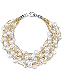 4-5mm Genuine White Freshwater Cultured Pearl Mila Bracelet for Women