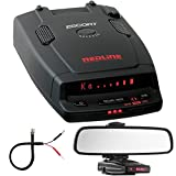 Escort RedLine Ultimate Performance Dual-Antenna Radar Detector Bundle Includes, Car Mirror Mount Bracket For Radar Detectors + Radar Detector Mirror Wire Power Cord