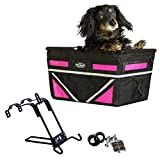 Travelin K9 Pet-Pilot MAX Dog Bicycle Basket Carrier | 2019 Model with 9 Color Options for Your Bike (NEON Pink)