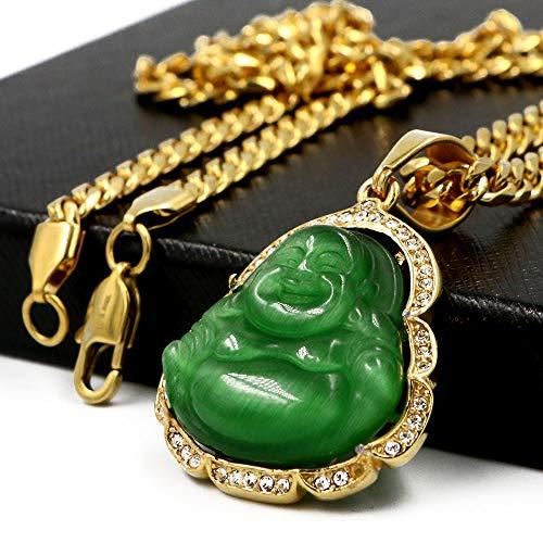 Buy jade buddha necklace gold