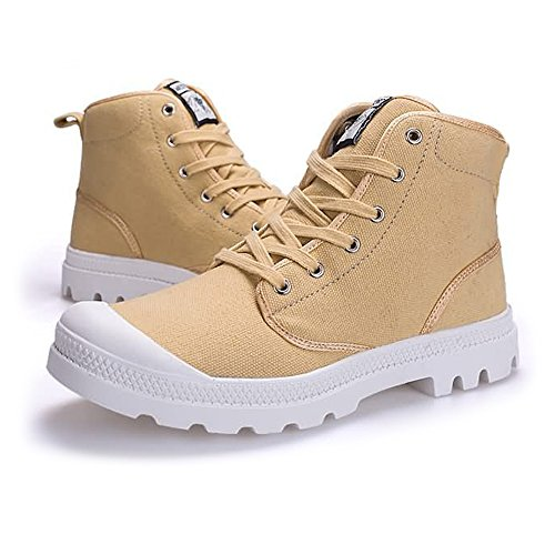 Stringate Shoes uomo Canvas Large 47EU Color EU antiscivolo Autunno taglia e 43 Size fino donna Outsole Cachi Sneaker Top moda High Estate alla Dimensione 2018 OFCWwqOA