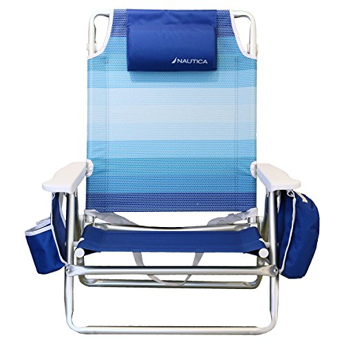 nautica-lightweight-5-position-recliner-folding-beach-chair-with-cup-holder-ombre-blue