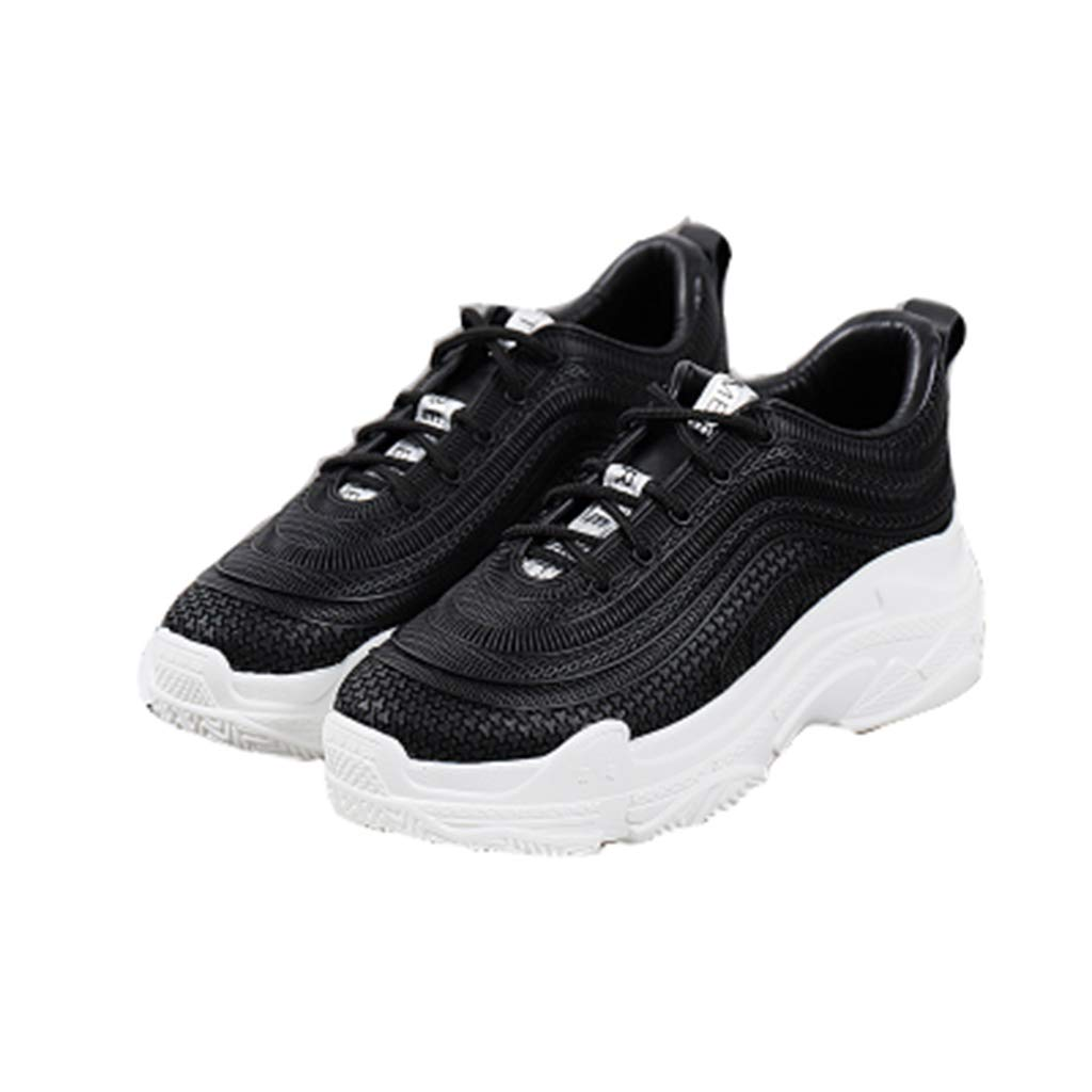 MagicXYY-sports schuhe Schuhe Casual Muffin Sports Wind Damenschuhe Atmungsaktive weiße Schuhe (Farbe   Schwarz größe   7UK=40EU)
