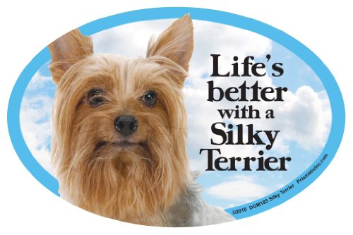 (Prismatix Decal Cat and Dog Magnets, Silky Terrier )