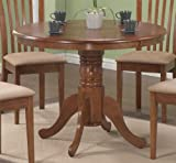 Monarch Specialties Round Pedestal Table, 40-Inch, Oak Review