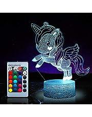 Eenhoorn Nachtlampje voor kinderen, Eenhoorn speelgoed voor meisjes, 16 kleuren veranderende nachtlamp met afstandsbediening 1170