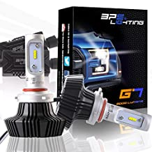 BPS Lighting G7 LED Headlight Bulbs Kit w/Clear Arc Beam 50W 8000LM 6000K - 6500K White Philips LED Headlight Conversion for Replace Halogen Bulb Headlights 2 Yr Warranty - (2pcs/set) (H10/9140/9145, 6500K)