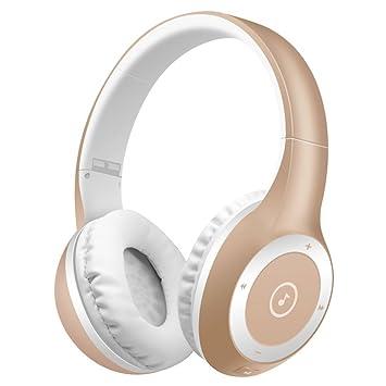 Auriculares Bluetooth, Bodecin Piel Amistosa Cuero 3D Sobre-Oído Estéreo Sonido Deporte Bluetooth 4.1 Inalámbricos Auriculares para ...