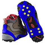 Traction Cleats for Ice and Snow- Quickly and Easily Grips Over Footwear (Sizes: S/M/L/XL)