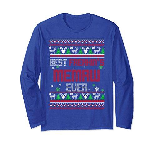 Unisex Best Freakin's Memaw Ever Ugly Christmas Sweater Gift Medium Royal Blue for $<!--$29.99-->