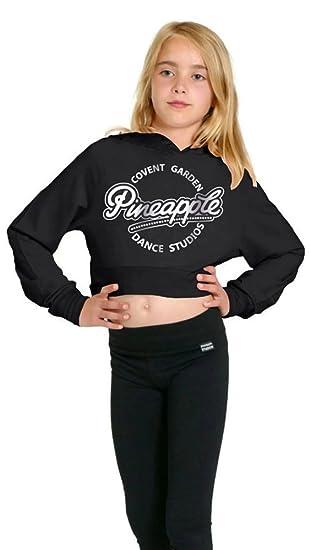 017f1ec41 PINEAPPLE DANCEWEAR GIRLS Long Sleeved Dance Hoodie Black Silver ...