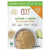 NurturMe Organic Baby Cereal, Quinoa + Apple 3.7 oz (4 Pack) by NurturMe