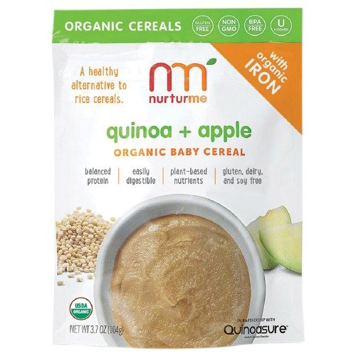 NurturMe Organic Baby Cereal, Quinoa + Apple 3.7 oz (Pack of 3)