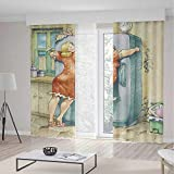 Small Window Blackout Curtains,Funny,for Bedroom Living Dining...