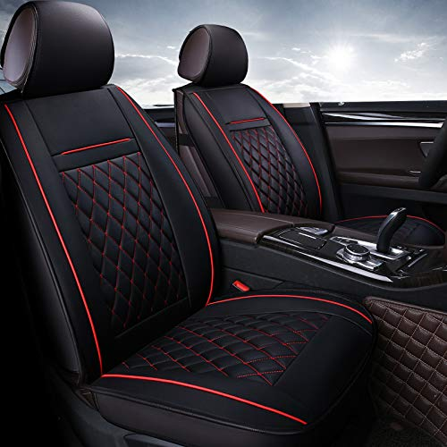 Seat Resistant (AUTO QUEEN Universal PU leather Car Seat Covers, Four seasons general purpose and wear-resistant and dirt-proof Car Seat Protector)