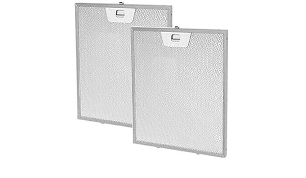 Spares2go de rejilla de aluminio ventilación extractor de filtros para campana de cocina Rangemaster (300 mm x 253 mm, pack de 2): Amazon.es: Hogar
