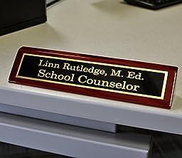 Engraved Desk Name Plate - Office Name Plate for Desk - Business Desk Name Plate