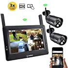 "SEQURO GuardPro DIY Surveillance System with 7"" Wireless Touchscreen Monitor and 2 Outdoor/Indoor"