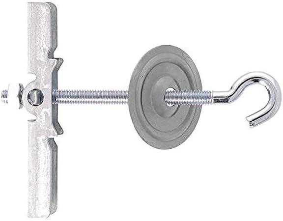 Set de 12 Pi/èces Gris Molly M20312-XJ Chevilles nylon avec vis /à t/ête frais/ée /Ø 7 x 30 mm