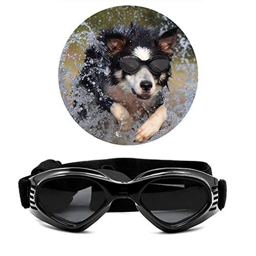 Turphevm Pet Goggles, Stylish Dog Sunglasses for UV Stop Waterproof Windproof Anti-Fog Eye...