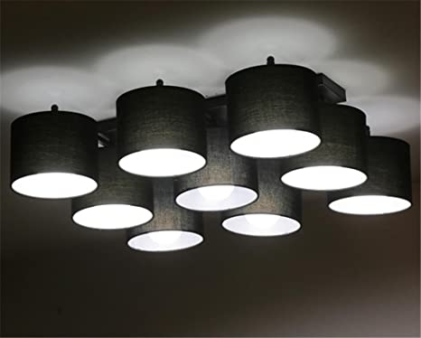 Biuody lampadari ferro lampadario tessuto soffitto della camera da