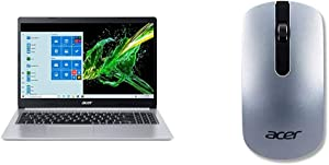 """Acer Aspire 5 A515-55-378V, 15.6"""" Full HD Display, 10th Gen Intel Core i3-1005G1 Processor with Acer Slim Wireless Optical Mouse - Silver"""