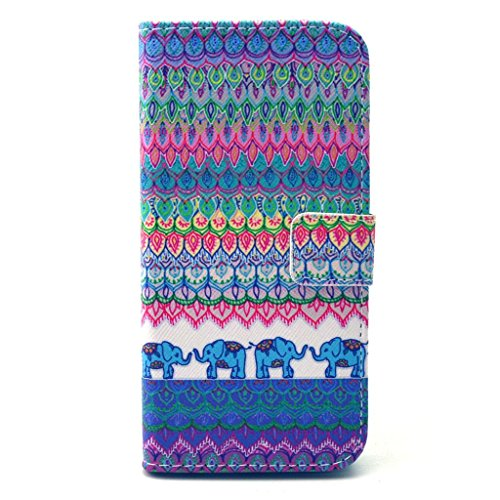 PowerQ [ para IPhone 6SPlus 6Plus IPhone6SPlus IPhone6Plus - X-23 ] PU Funda Serie bolsa Modelo colorido con bonito hermoso patr¨®n de impresi¨®n Impresi¨®n Dibujo monedero de la cartera de la cubiert X-8