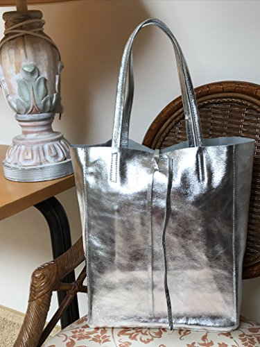 Fashion RW fabriqu souple cuir Shopper f6xaZdU