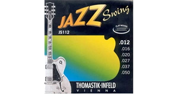 Amazon.com: CUERDAS GUITARRA ELECTRICA - Thomastik (JS/112) Jazz Swing (Juego Completo 012/050): Musical Instruments